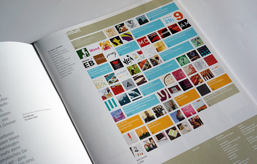 agd quarterly magazine - inside pages - brian switzer, esther mildenberger, envision+