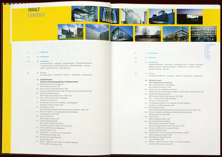 inside pages from the book corporate architecture - brian switzer, esther mildenberger, envision+