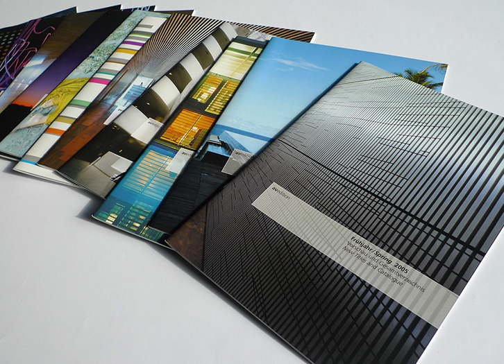 avedition program catalogues front covers - esther mildenberger, brian switzer, envision+