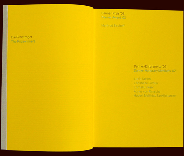 chapter opener from the danner stiftung (foundation) art catalogue for arnoldsche publishers - esther mildenberger, envision+