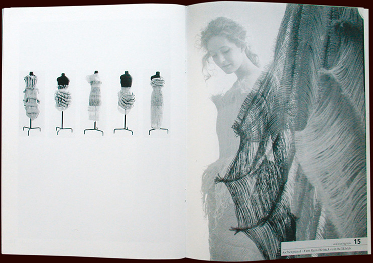 inside pages of fashion catalogue 16 for fh pforzheim - esther mildenberger, envision+