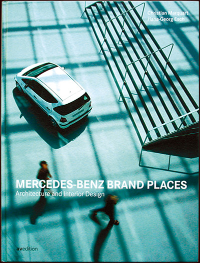 mercedes-benz brand places book cover - esther mildenberger, envision+