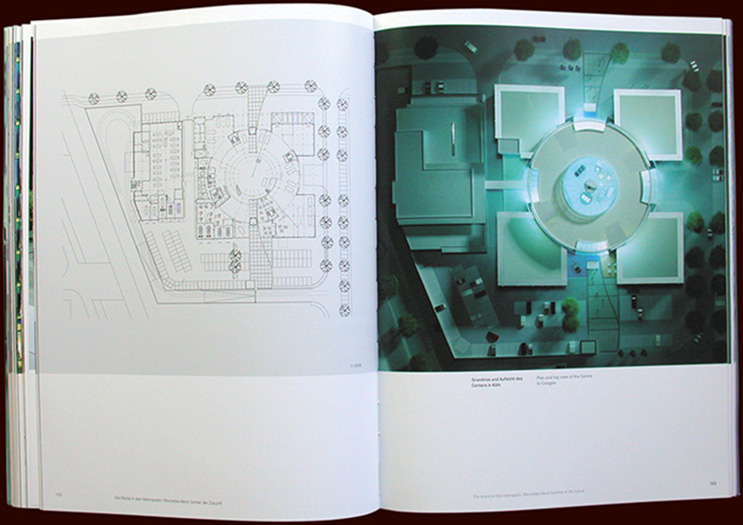 inside pages from mercedes-benz brand places book - esther mildenberger, envision+