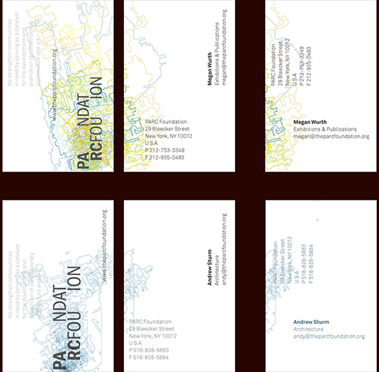 business cards for the parc foundation - brian switzer, envision+