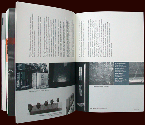 rca architecture catalogue - infinity-ville - inside pages - with nigel coates - esther mildenberger, envision+
